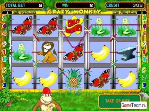 Crazy Monkey - игровой автомат гейминатор в казино GaminatorSlots.com