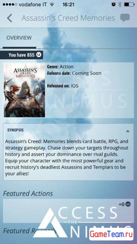 Карточная игра Assassin's Creed Memories выйдет на iOS